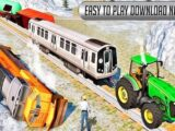 Chained Tractor Towing Train Simulator